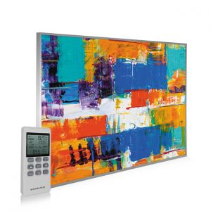 995x1195 Abstract Paint Picture NXT Gen Infrared Heating Panel 1200W - Electric Wall Panel Heater