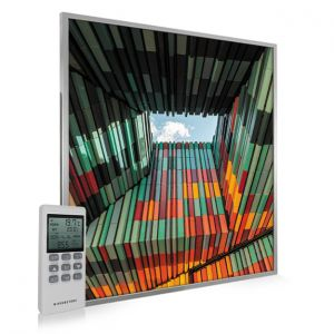 995x1195 Geometric Architecture Picture NXT Gen Infrared Heating Panel 1200W - Electric Wall Panel Heater